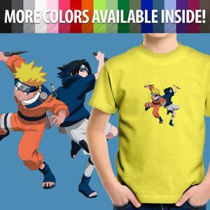 Naruto-Uzumaki-Sasuke-Uchiha-Anime-Manga-Ninja-Unisex-Kids-Tee-Youth-T-Shirt