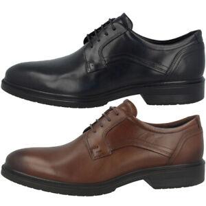 Details zu Ecco Lisbon Men Schuhe Herren Elegant Business Leder Halbschuhe Schnürer 622104