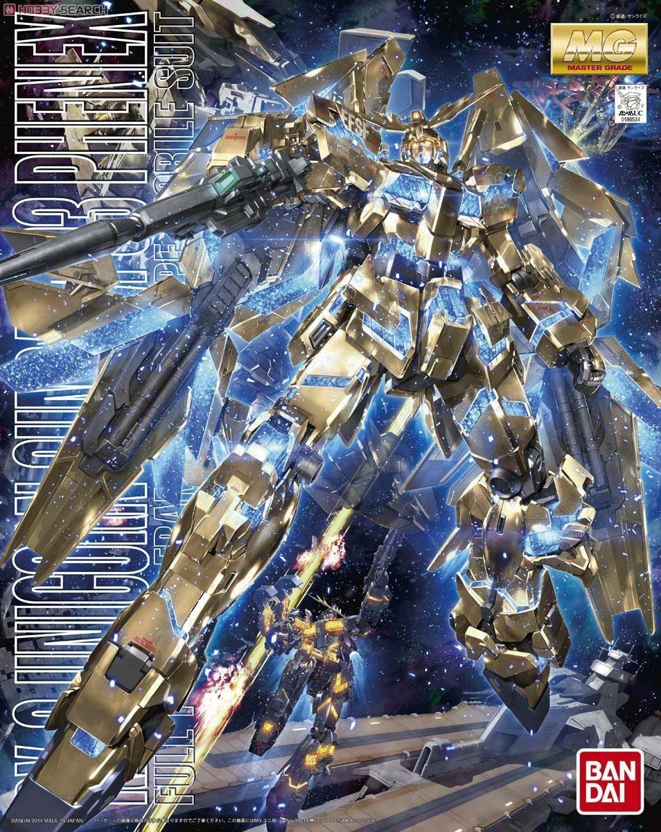 RX-0 Unicorn Gundam 03 Phenex GUNPLA MG Master Grade 1/100 Gold Coat Model Kit