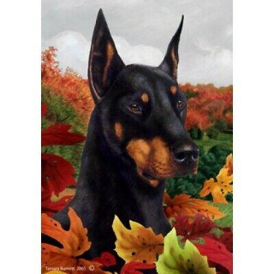 Red Doberman Pinscher 630661 Welcome Flowers Garden Flag