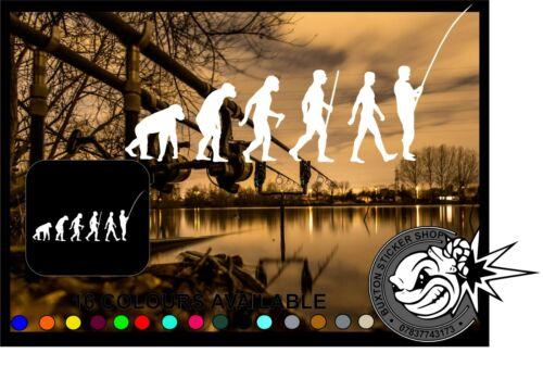 Pêcheur Evolution voiture fenêtre pare-chocs Portable Sticker Vinyl Decal Angling Pêche