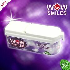 WOW SMILES Teeth Whitening Brightening Powder Mint Flavour 6 Months Supply 40g