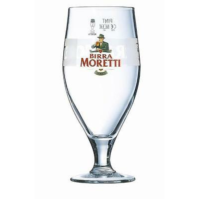 Genuine Italian Birra Moretti Pint Glasses - 20oz / 568ml