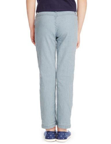 Filles Enfants Jeans Enfants Rayé Pantalon Coupe Droite Pantalon