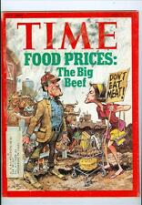 1973 Time Magazine: Food Prices: The Big Beef w3e4