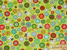 Ho-Ho-Ho-Ho Let it Snow Melted Snowman G Benartex Christmas Fabric by the 1/2 Yd