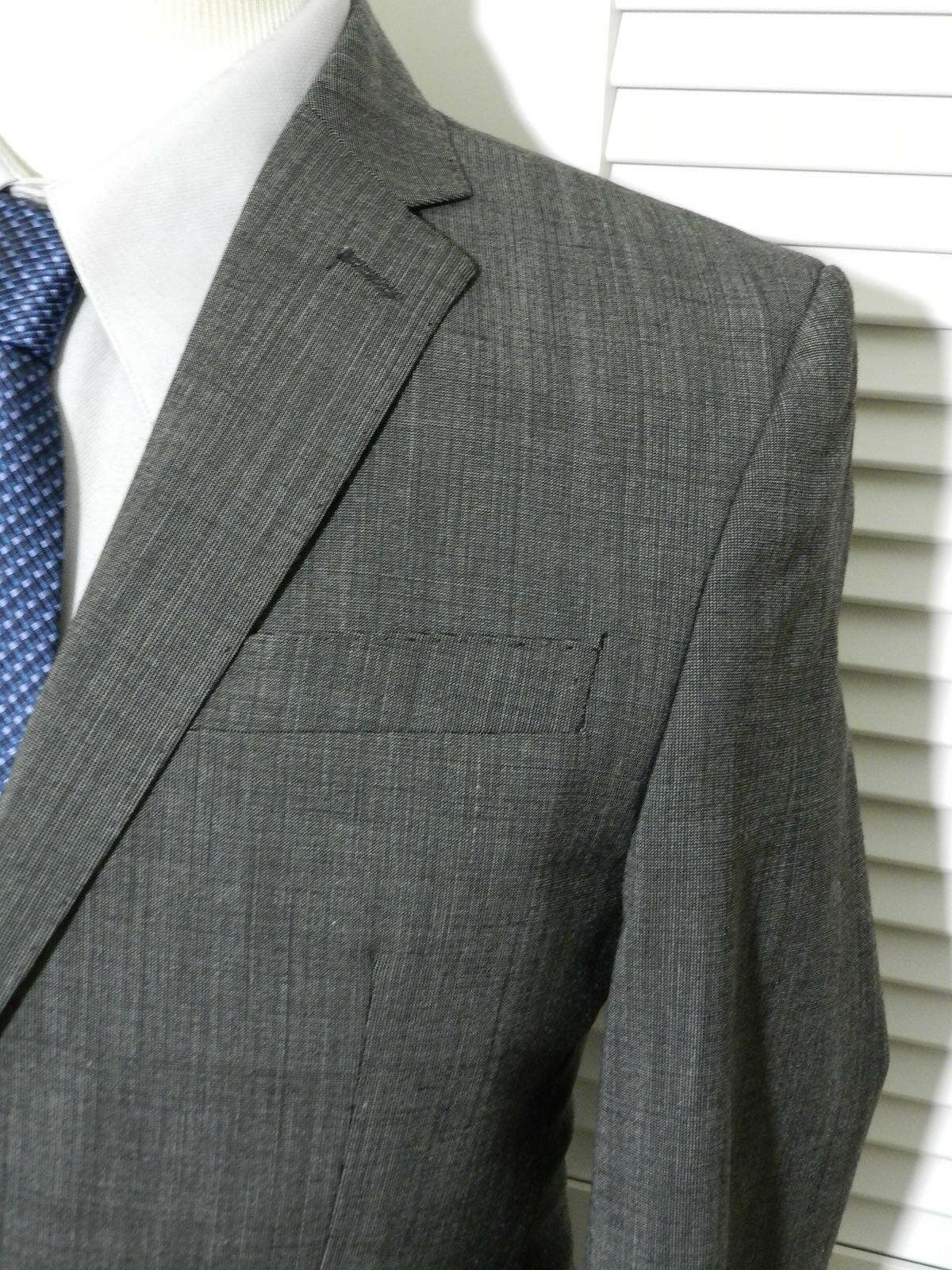 1095 Versace Collection grau Pindot 2 Button Suit 40R 1095