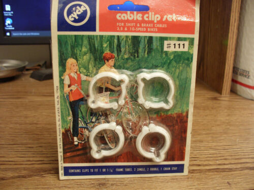 Vintage Bicycle Cable Clip Set...Set of 4 Clips.....#111...1979...Trusted Seller