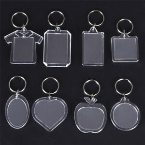 5//10x Clear acrylique vierge photo cadre porte-clés porte-clé porte-clefs  IU