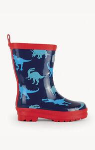 BNWT Hatley Boys Lots Of Dinos Dino Shadows Rainboots Rain Boots Wellies Fun