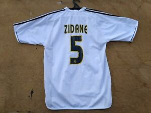 71c0a0636 Football Legend Zinedine ZIDANE  5 Real Madrid Home Football Shirt ...