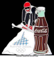 OLYMPIC PIN TORINO ITALY 2006 COKE SPONSOR DH SKIING