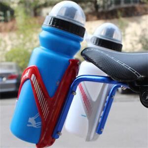 Bicycle Seat Rack Saddle Back Double Water Bottle Holder Cage Bracket Adapter#wa