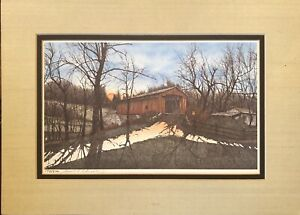 Lonnie-C-Blackley-Jr-1979-Lithograph-The-Covered-Bridge-Numbered-198-500