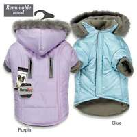 Dog Parka Quilted Thermal Thermapet Warm High Quality Removeable Hood Mpet Coat