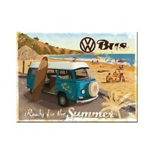 VW Bus Surf Coast Ready for Summer Camper Van Retro Classic Gift Fridge Magnet