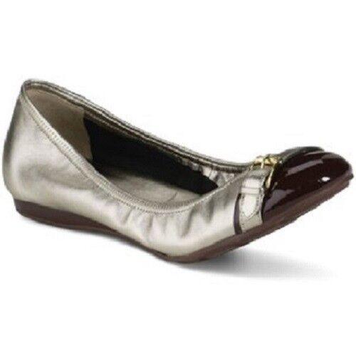 Cole Haan Aire Reesa Hebilla Zapatos De De De Ballet Para Mujer Castaño Platino 7  varios tamaños