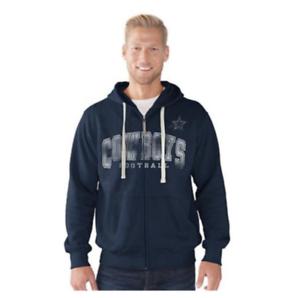 Dallas Cowboys Sueded Fleece Full-Zip Motion Hoodie by GIII- MEDIUM ... e30dd8678