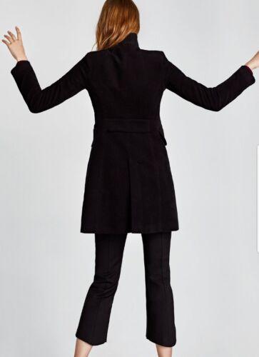 Black Coat Collar 2039 Zara breasted Moleskin High Doubledouble 628 adxqRw
