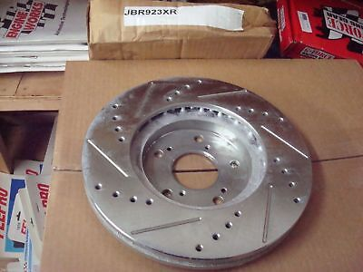 Power Stop JBR791XR Cross Drilled and Slotted Performance Brake Rotor Right