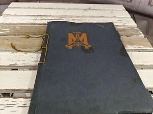 Vintage-Rare-1913-Chicago-Illinois-Moline-High-School-Yearbook-Book-Memorabilia