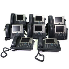 Lot Of 11 Cisco 7945 Unified Ip Phone Office Business Phone With Headset Amp Stand