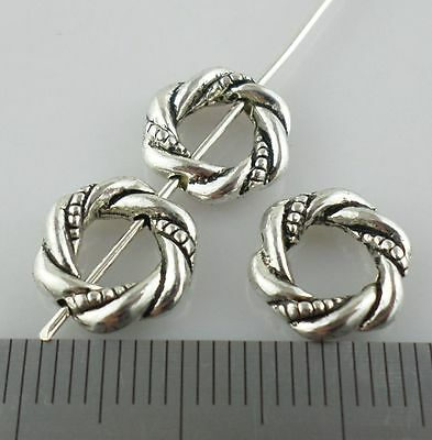 24pcs Tibetan Silver Twine Jump Rings Beads Charms Connector 3x15mm