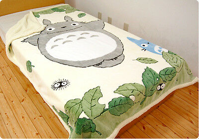 TOTORO Single Size Blanket  KUNUGI design. EMS is also available if you need.