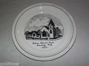 VINTAGE 1955 BELLVUE REFORMED CHURCH SCHENECTADY NY SOUVENIR COLLECTOR PLATE