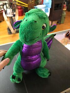DRAGON-Plush-Stuffed-GREEN-PURPLE-Winged-Animaland-15-034-E84