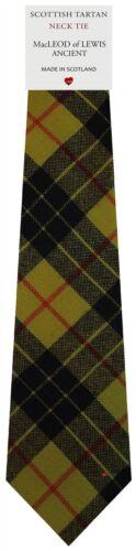 Mens Clan Tie Made in Scotland MacLeod of Lewis Ancient Tartan