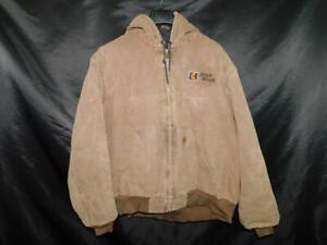 Carhartt-2X-Brown-Sandstone-Duck-Active-Jacket-Thermal-Lined-Coat-Zip-Hood-J25