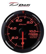 Defi Racer 52mm Car Oil Pressure Gauge - Red - JDM Style Stepper Motor