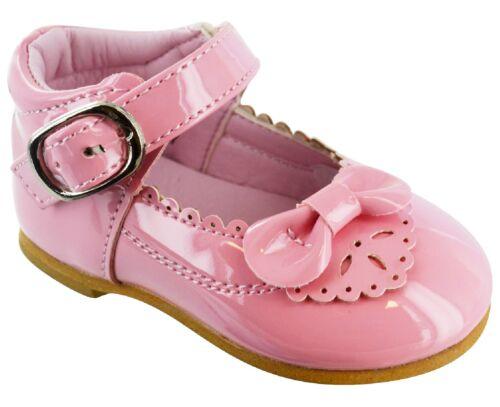 Kinder Baby Kleinkinder Mädchen Spanische Lack Schleife Schnalle Party Schuhe Sz