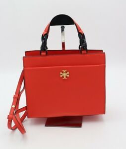 NWT-Tory-Burch-Kira-Red-Leather-Small-Tote-Crossbody-Shoulder-Bag-45157-498-New