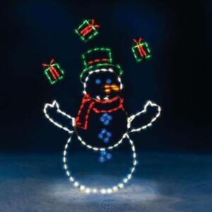 The 5 Foot Animated Juggling Snowman Outdoor Lawn Christmas Decoration Lighted Ebay