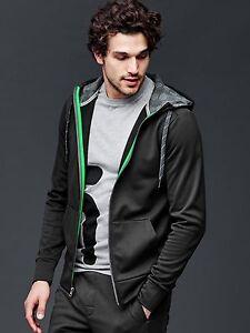 Men-039-s-GAP-Fit-full-zip-hoodie-TRUE-BLACK-size-LARGE-NWOT