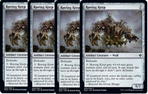 4x Roving Keep Throne of Eldraine MTG Artifact Common NM