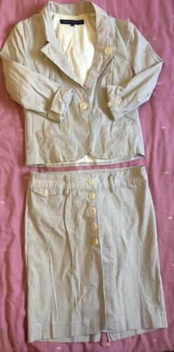 Uk 10 Both Size Skirt With Connection French Stripe Suit AffBqY