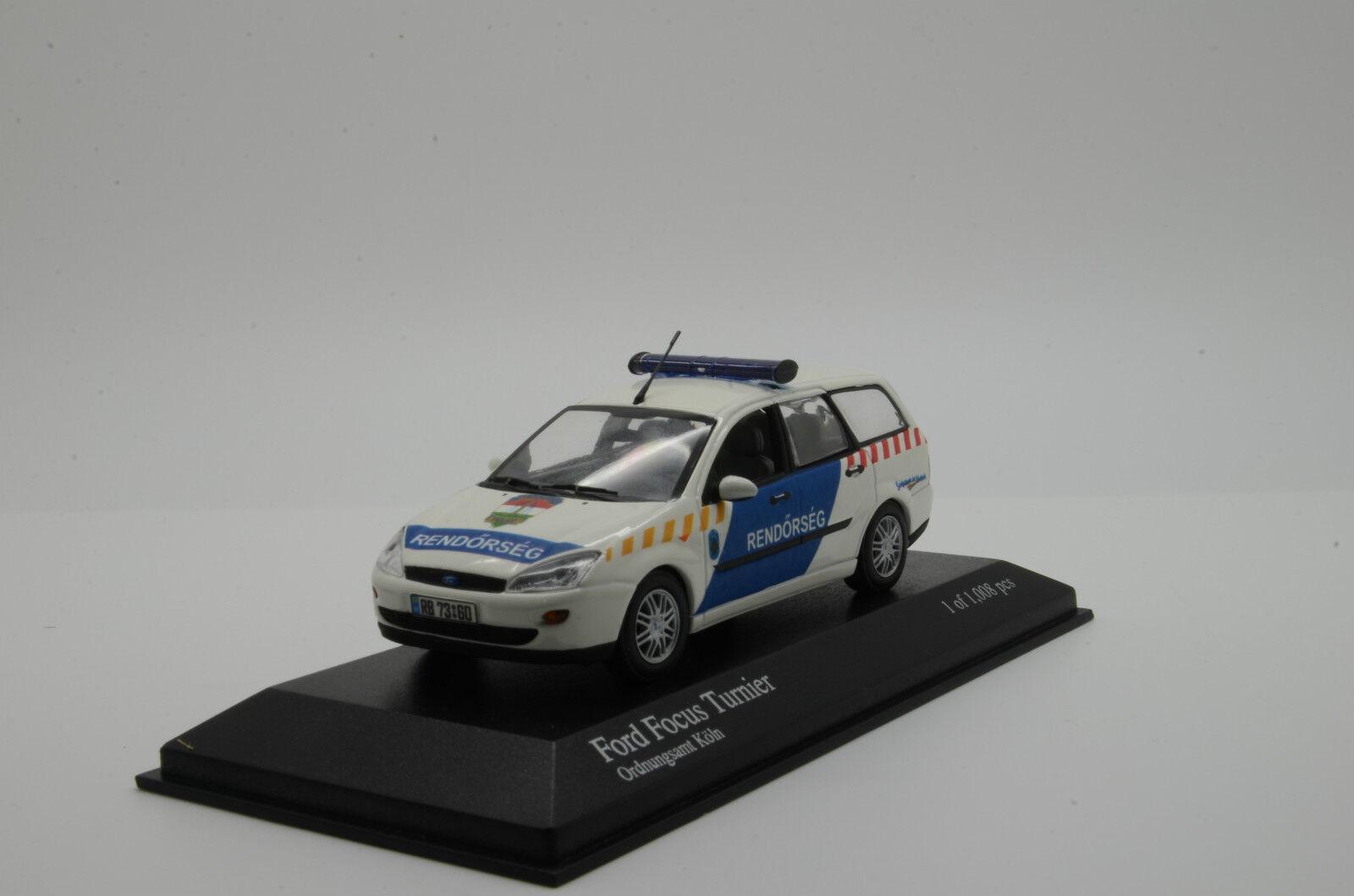 RARE    Ford Focus Turnier Rendorseg Rendőrség Hungary Police Minichamps 1 43