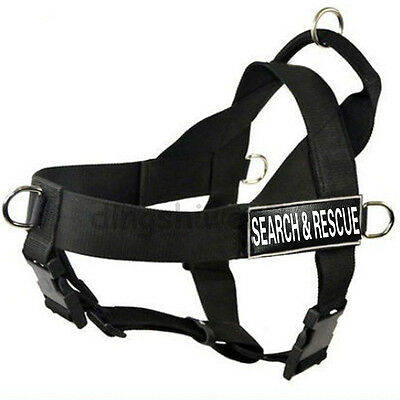 Service Dog Harness Vest with Handle Removable Velcro patches Large Dog Pitbull