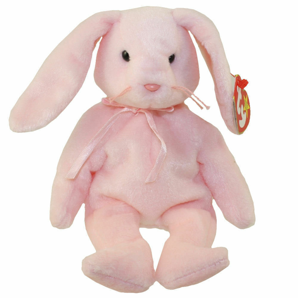 TY BEANIE BABY HOPPITY THE RABBIT PINK ((RARE))  ((RETIRED)) WITH ERRORS