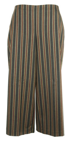 MARINA RINALDI Women/'s Multi Realista Striped Wide Leg Pants $355 NWT