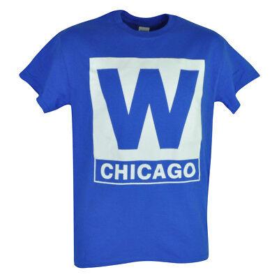 Liberal Mlb Chicago Cubs W Herren Erwachsenen T-shirt Blau Kurzärmelig Baumwolle Jahre Lang StöRungsfreien Service GewäHrleisten Weitere Ballsportarten Baseball & Softball