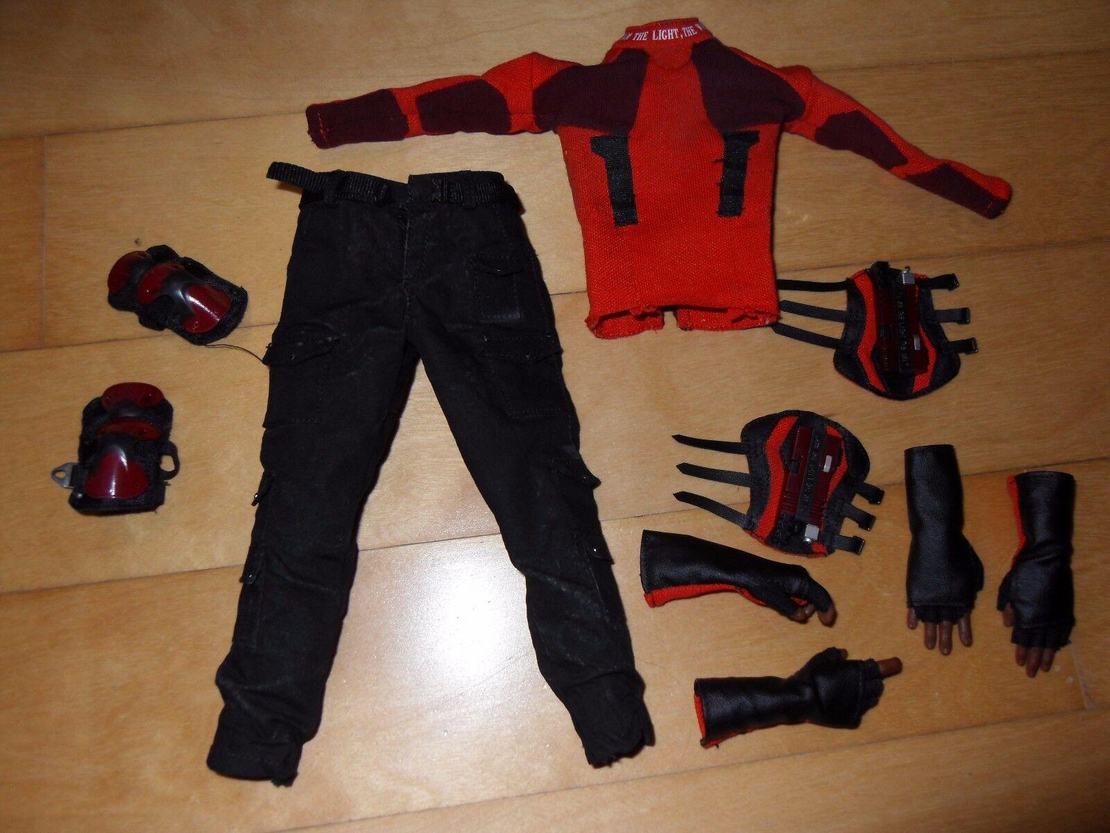 Figuras de arte escala 1 6 muertos soldado Deadshot uniforme, 4 manos con guantes y mucho
