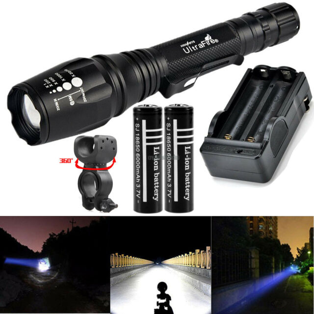 Ultrafire 10000LM Tactical Police Heavy Duty 18650 LED Rechargeable Flashlight
