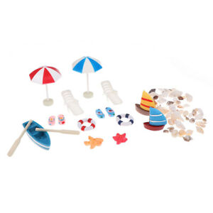 1-12-Dollhouse-Miniature-Deck-Chair-Beach-Umbrella-Boat-Shell-Kits-Decorat-EO