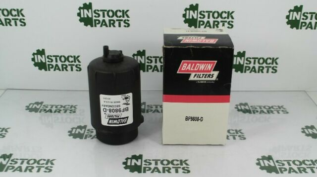 With Drain Baldwin Heavy Duty BF9808-D Secondary Fuel Element