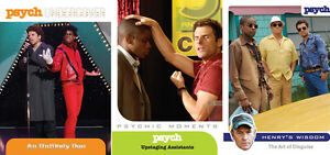 PSYCH-Seasons-1-4-Trading-Cards-MINI-MASTER-SET-Base-Inserts