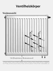 buderus ventil heizk rper typ 21 400x2300 mit halter u stopfen ebay. Black Bedroom Furniture Sets. Home Design Ideas